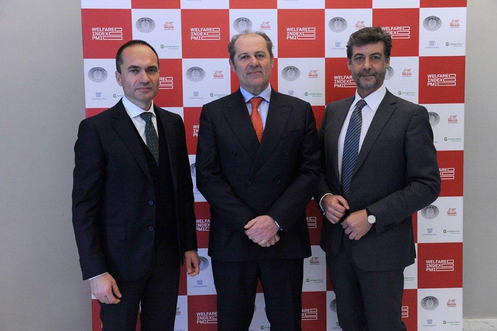 Alberto Baban - Presidente Piccola Industria Confindustria, Philippe Donnet - Group CEO di Generali e Mario Guidi - Presidente Confagricoltura