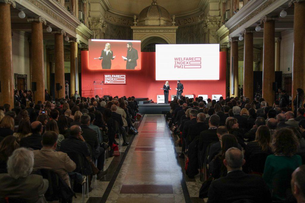 Federica Gentile e Federico Ruffo, moderatori dell'edizione 2017 di Welfare Index PMI
