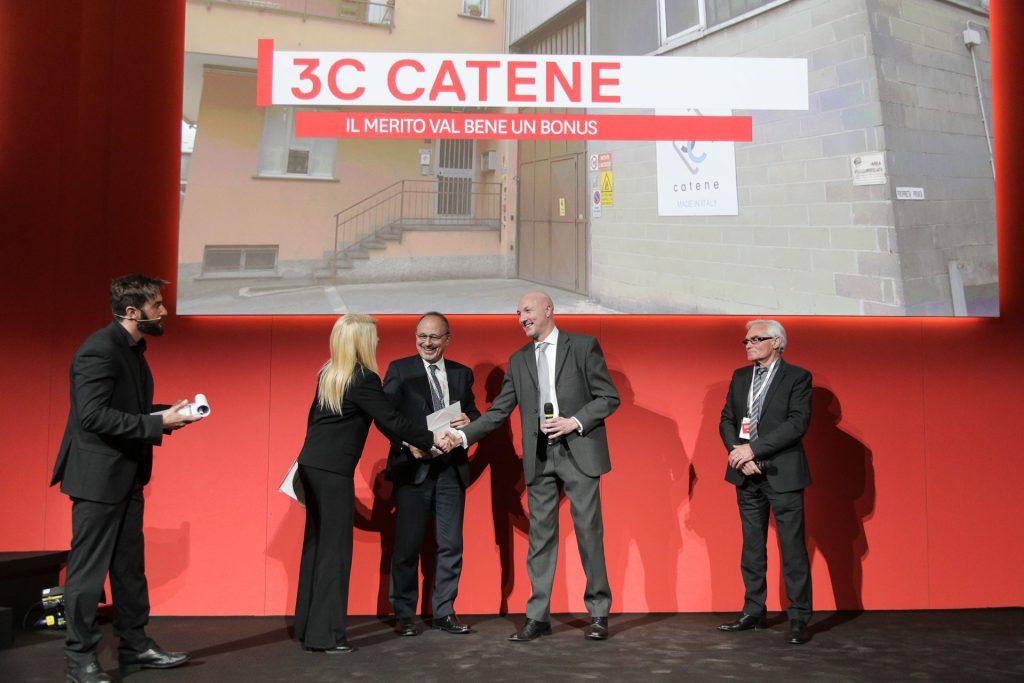 """Primo premio artigianato: 3C Catene """"Il merito val bene un bonus"""""""