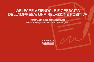 Meneguzzo - Welfare aziendale e crescita